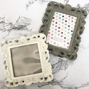 Mini Wooden Customizable Picture Frame Decor Set